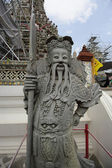 Chinese statue in the Buddhist temple of Wat Arun in Bangkok, Thailand. 22 jul 2014  — Stock Photo
