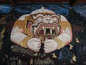 BANGKOK - JULY 27 : Thai Mural Painting in sanctuary  Wat Phra Kaew on JULY 27,2014 Bangkok Thailand — Stock Photo