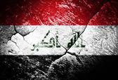 Iraq, flag, Iraq flag, war, conflict, worn, distressed — Stock Photo