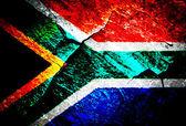 Grunge flagga serien - sydafrika — Stockfoto
