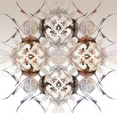 Abstract winter pattern in the Art Nouveau style — Stock Photo
