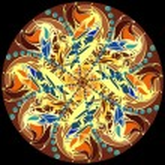 Mandala. Decorative round color lace pattern — Stock Photo #45201229