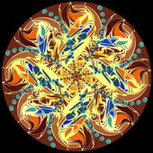 Mandala. Decorative round color lace pattern — Stock Photo