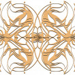 Mandala. Decorative round beige lace pattern, vintage ornament — Stock Photo #45915049