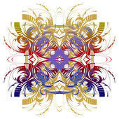 Abstract pattern, colorful openwork lace, many small details — Stock Photo