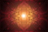 Абстрактные красно коричневый орнамент, узор в современном стиле — Стоковое фото