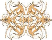 Mandala. Decorative round beige lace pattern, vintage ornament — Stock Photo