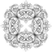 Ручная роспись графический шаблон. кружева, восточные, персидский ковер — Стоковое фото