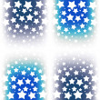 Abstract pattern with many small chaotic stars on an blue background — Stock Photo