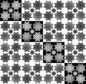 Abstract  background with a repeating element in the form of a flower or snowflake — Stock Photo