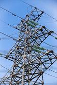 Pilão de electricidade de alta tensão — Fotografia Stock