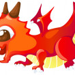 Cute cartoon red dragon — Stock Vector #43414561