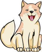 Sonrisa de perro — Vector de stock