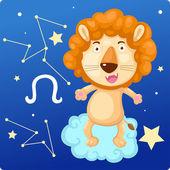 Zodiac signs - Lion — 图库矢量图片