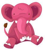 Pink elephant — Wektor stockowy
