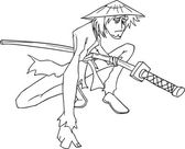 Samurai — Stock Vector