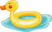 Swim ring duck — Stock Vector