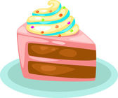 Cake on plate — Stock Vector