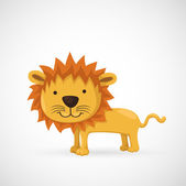 Hand drawn lion — Stock Vector