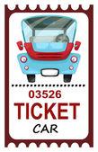 Ticket travel — Cтоковый вектор