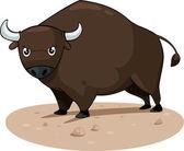 Cartoon bull — Stock vektor