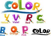 Color del alfabeto — Vector de stock