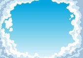蓝蓝的天空云 — 图库矢量图片