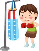 Beispiel für ein boxer — Stockvektor