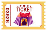 Ticket circus tent — Stock Vector