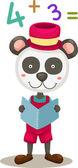 Panda czytanie książki — Wektor stockowy
