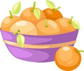 Oranges in basket — Stock Vector