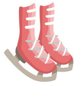 Figure skates shoes — Stockvector