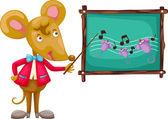 Rat education concet — Vettoriale Stock
