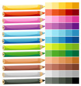 Colored Crayons — Stock Vector