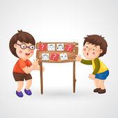 子供の宿題 — ストックベクタ