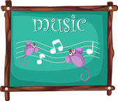 Music notes on blackboard — Stock Vector