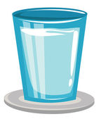 Glass with water — Stockvector