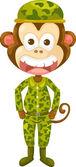 Monkey army — Stock Vector