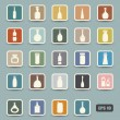 Bottle icons — Stock Vector #43662499