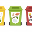 Different color recycle bins — Stock Vector #43663063
