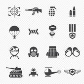 Military and war icons — Stock Vector
