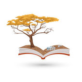 The tree book — Stock Vector