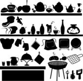 Kitchen tools — Vettoriale Stock