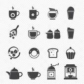 Kaffe och te ikoner — Stockvektor
