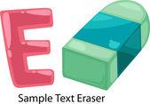 ALPHABET LETTER E-Eraser — Stock Vector