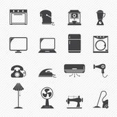 Electronic home icons — Stock Vector