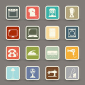 Electronic home icons — 图库矢量图片