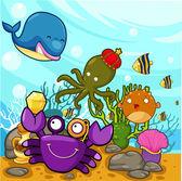 Enjoyed under the sea — Stock Vector
