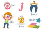 Lettera alphabet.j — Vettoriale Stock