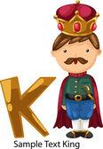 ALPHABET LETTER k-King — Vettoriale Stock